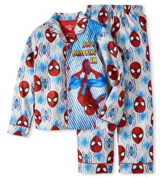 Spiderman Button Up Pajama Sleep Set (Little Boy & Big Boy)