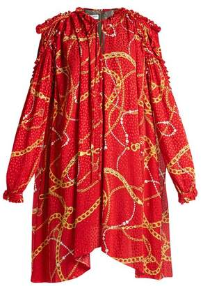 Balenciaga Flou Dress - Womens - Red Print