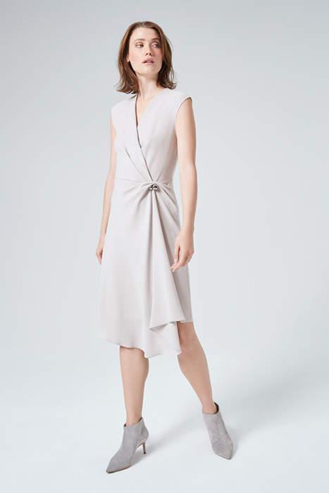 Kleid mit Taillen-Drapé