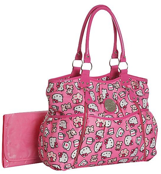 Hello Kitty Allover Print Front Zip Diaper Bag