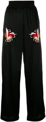 Diesel embroidered flared trousers