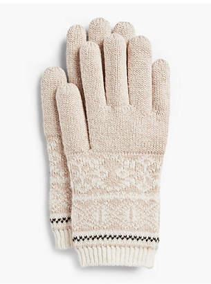 Talbots Reindeer Fair Isle Gloves