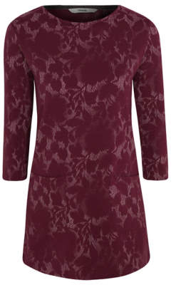 George Burgundy Jacquard Tunic