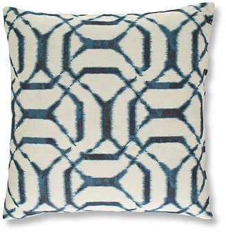 Massoud Furniture Palma 19x19 Pillow - Denim