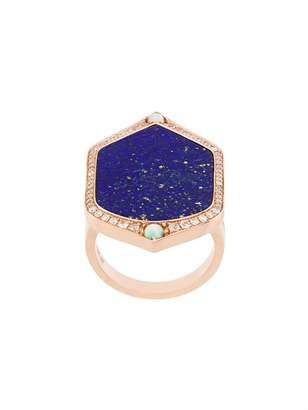 Joelle Gagnard Jewellery Lapis and diamond set ring