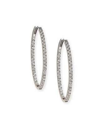 Memoire 18K White Gold & Diamond Infinity Hoop Earrings, 2.75 tdcw
