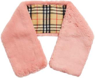 Burberry Vintage Fur-Cashmere Scarf