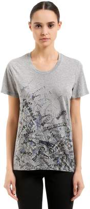 Burberry Graffiti Printed Cotton T-Shirt