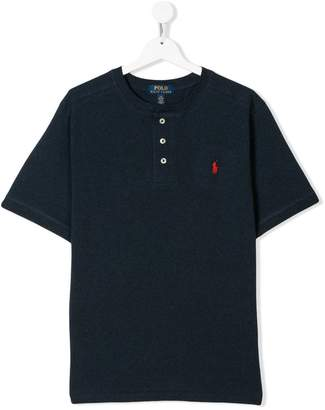 Ralph Lauren Kids TEEN button placket T-shirt