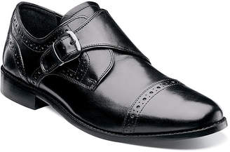 Nunn Bush Newton Mens Monk-Strap Cap-Toe Leather Dress Shoes