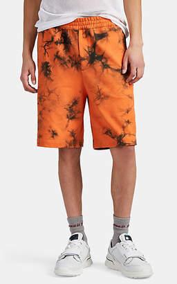 Helmut Lang Men's Tie-Dyed Cotton Sweatshorts - Orange
