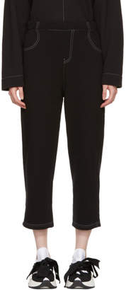 Maison Margiela Black French Terry Lounge Pants