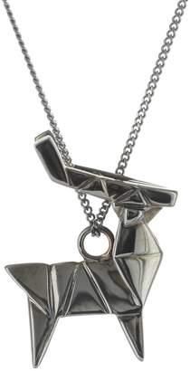 Origami Jewellery Deer Necklace Gun Metal