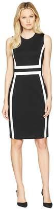Calvin Klein Color Block Scuba Sheath Dress CD8M1V5K Women's Dress