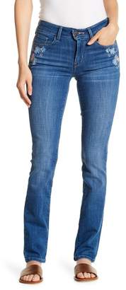 Levi's Classic Mid Rise Embroidered Skinny Jeans