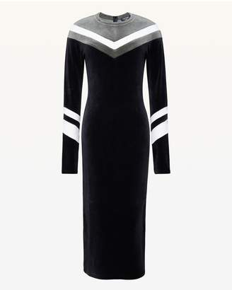 Juicy Couture Colorblock Chevron Stretch Velour Dress