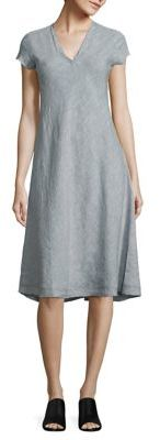 Eileen Fisher Organic Linen A-Line Dres $278 thestylecure.com
