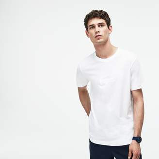 Lacoste Men's Crew Neck Oversized Crocodile Jersey T-shirt