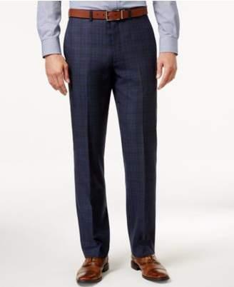 Ryan Seacrest Distinction Men's Modern Fit Blue Flannel Glen Plaid Suit Pants, Created for Macy's