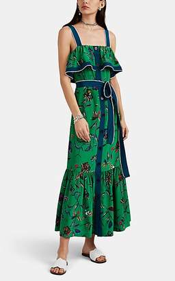 Derek Lam 10 Crosby Women's Floral Silk Tank Dress - Green