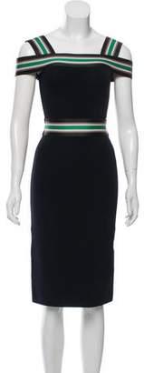 Christopher Kane Stripe Trim Midi Dress