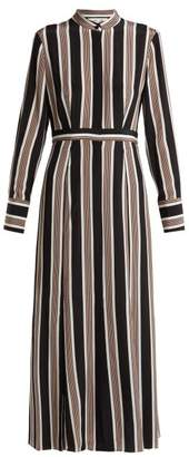 Diane von Furstenberg Harley Striped Silk Crepe De Chine Shirtdress - Womens - Black Multi