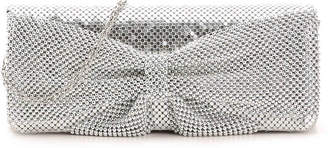 Jessica McClintock Mesh Bow Clutch - Women's