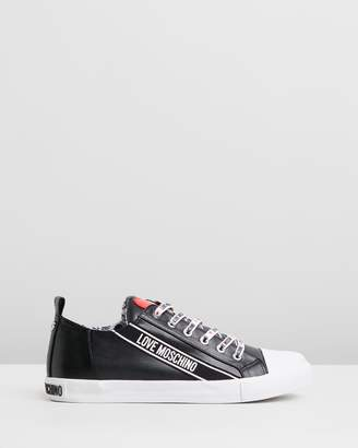 Love Moschino Logo Lace-Up Sneakers
