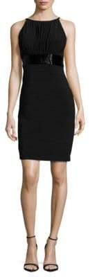 JS Boutique Shirred Empire-Waist Dress