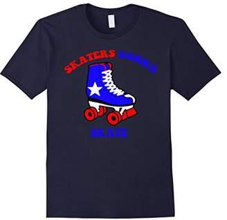 Skaters Gonna Skate Roller Skating Funny Political Tee Shirt