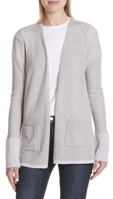 ATM Anthony Thomas Melillo Cotton & Cashmere Waffle Knit Cardigan