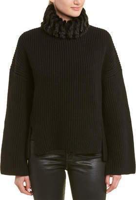 Fendi High-Low Cashmere Sweater