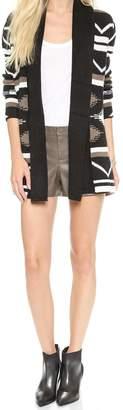 BB Dakota Tobacco Leather Shorts