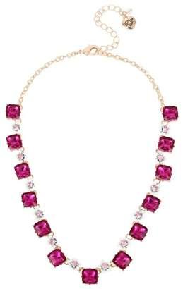Betsey Johnson Stone Flower Collar Necklace