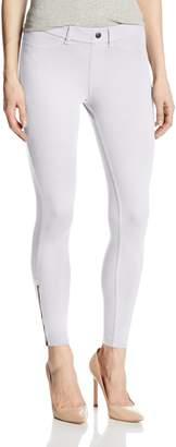 Hue Women's Khaki Skimmer Leggings with Side Zipper
