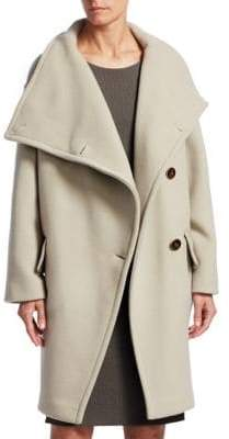 Emporio Armani Asymmetrical Funnel Neck Coat