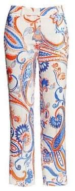 Roberto Cavalli Iguana Paisley Print Pants