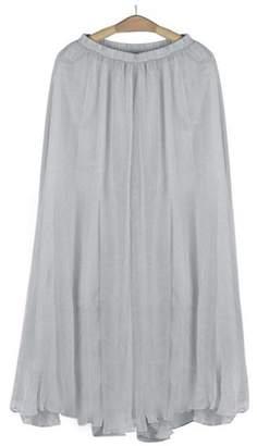 skirts,Lookatool Women Elastic Waist Chiffon Long Maxi Beach Dress