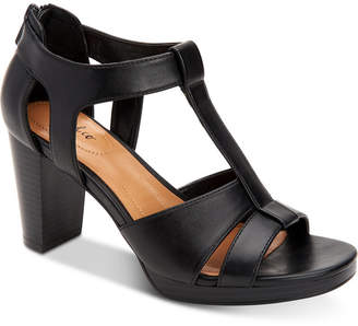Style&Co. Style & Co Ophelia Block-Heel Cutout Sandals, Created for Macy's Women's Shoes