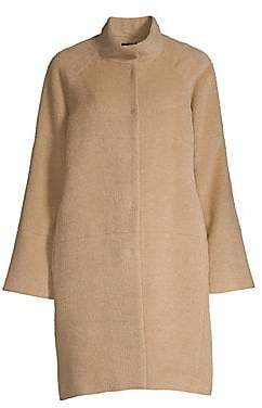 Sofia Cashmere Women's Funnel Neck Alpaca Wool Coat