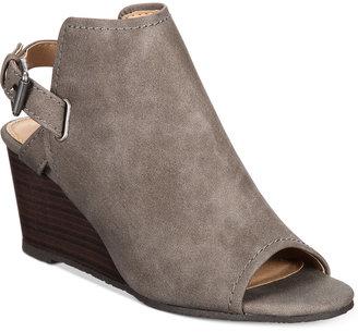 Esprit Angie Wedge Sandals $59 thestylecure.com