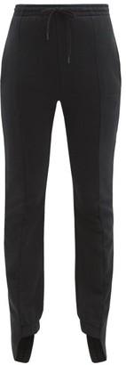 Vetements Cotton Blend Slim Leg Track Pants - Womens - Black