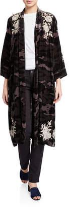 Johnny Was Plus Size Santal Velvet Kimono Coat