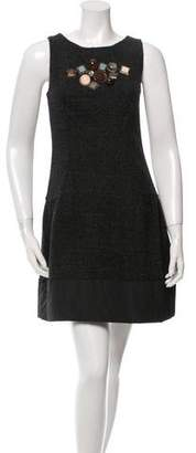 Hoss Intropia Embellished Wool Dress w/ Tags