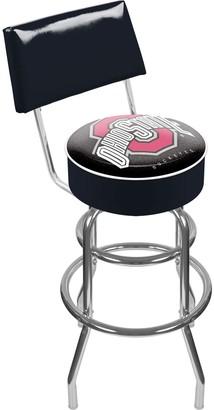 NCAA Kohl's Ohio State Buckeyes Padded Swivel Bar Stool with Back