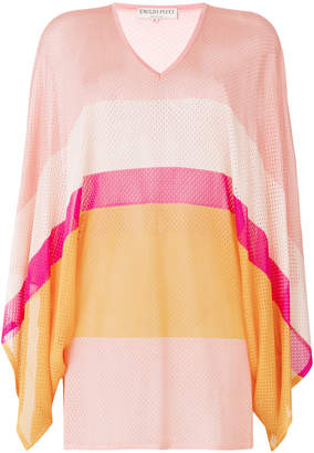 Emilio Pucci striped V-neck jumper