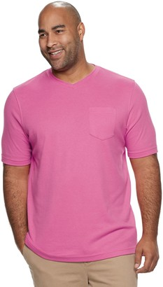 Croft & Barrow Big & Tall Classic-Fit Extra Soft Interlock Pocket V-Neck Tee