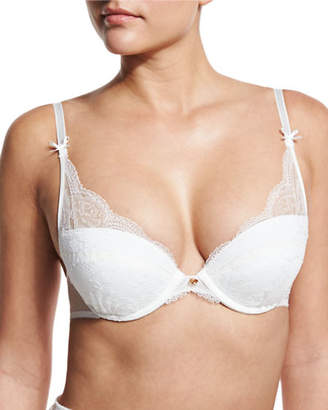 Chantelle Présage Lace Push-Up Bra $110 thestylecure.com