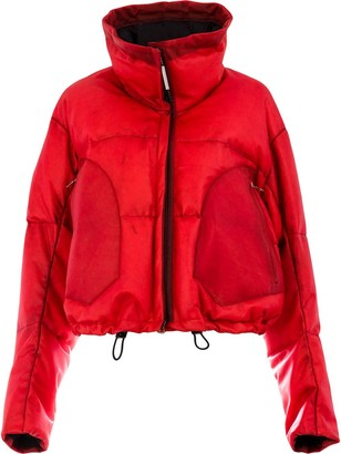 Isaac Sellam Experience Appartition Rouge puffer jacket