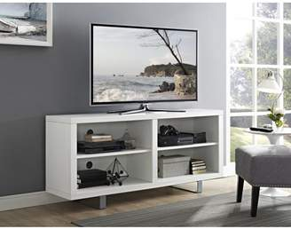 "Walker Edison 58"" Modern TV Stand Media Storage Console Entertainment Center - White"